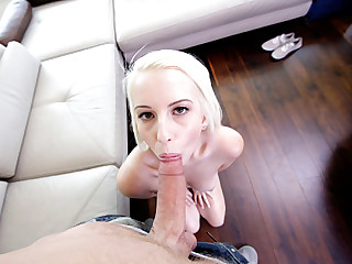 First time giving blowjob